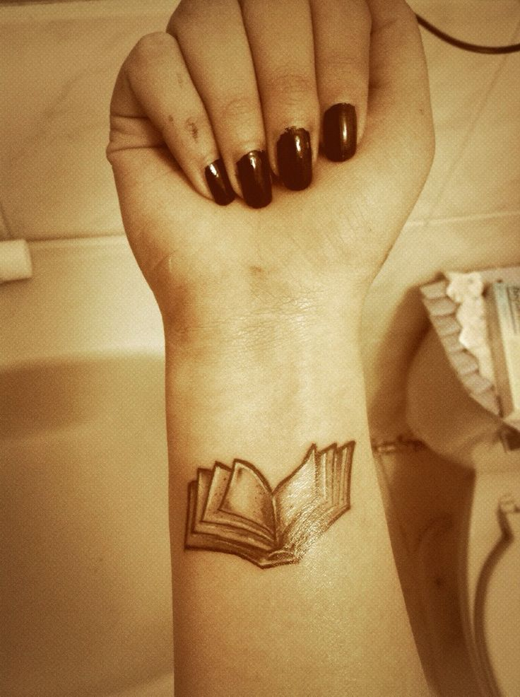 Arm book tattoo - Book Tattoos