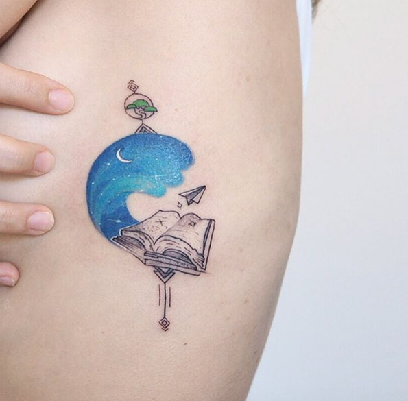 Great Book Tattoo Ideas For Book Lover 18 - Book Tattoos