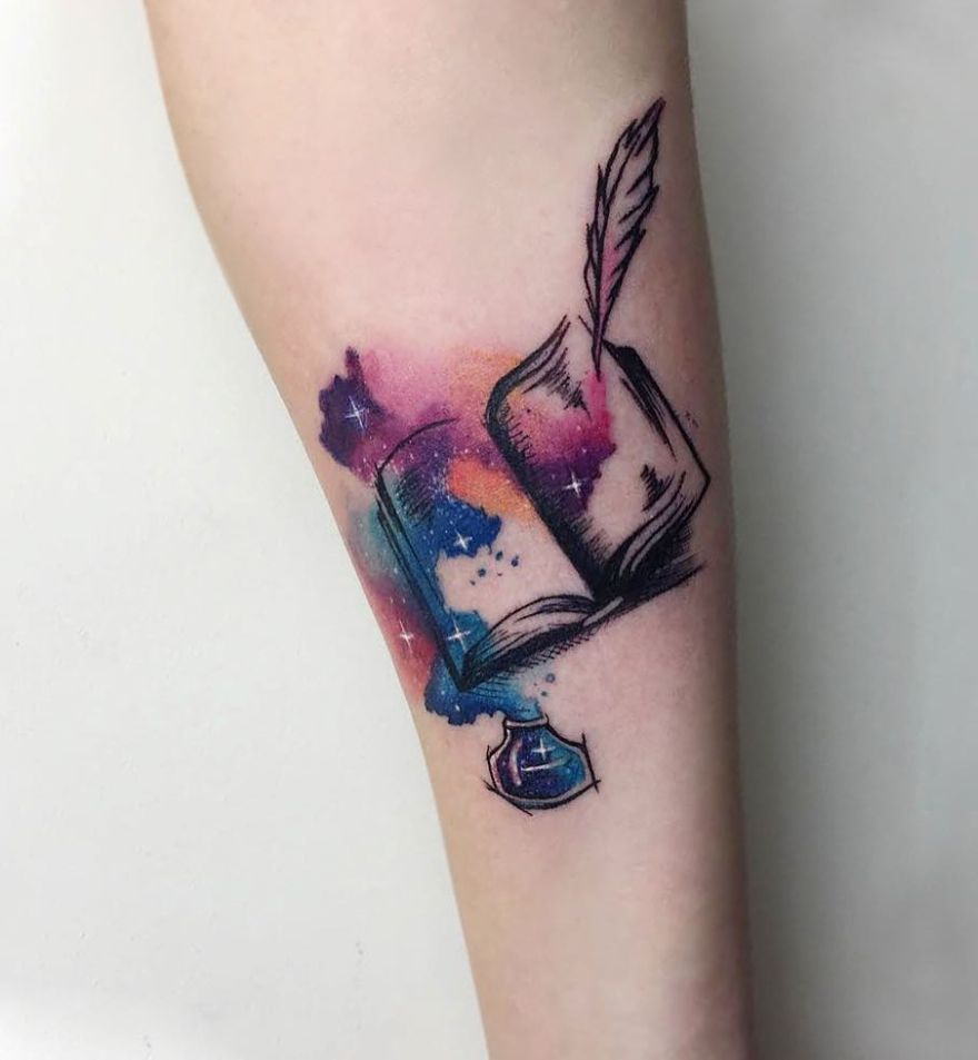 book tattoo by yeliz ozcan 2 - Book Tattoos