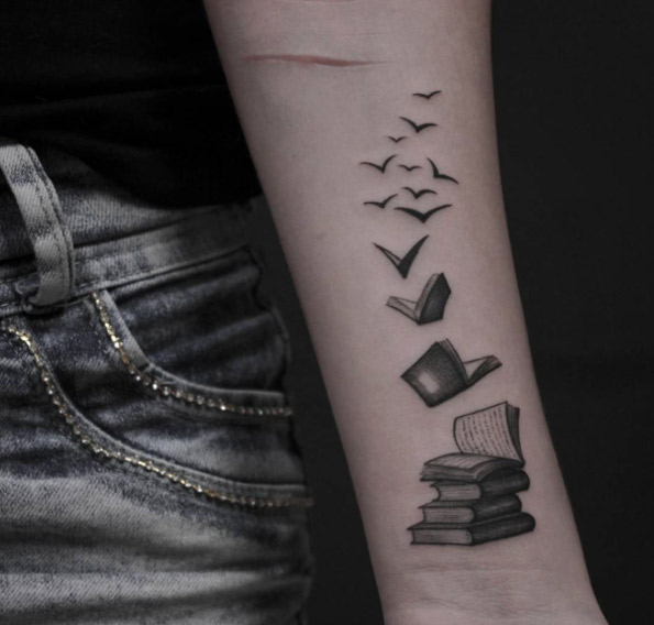 book tattoo design 1 - Book Tattoos