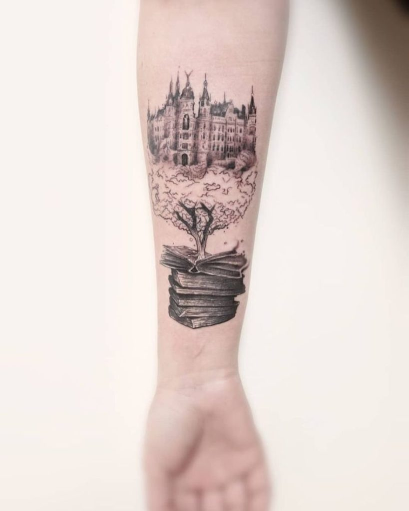 creative book tattoo ideas 32 819x1024 - Book Tattoos