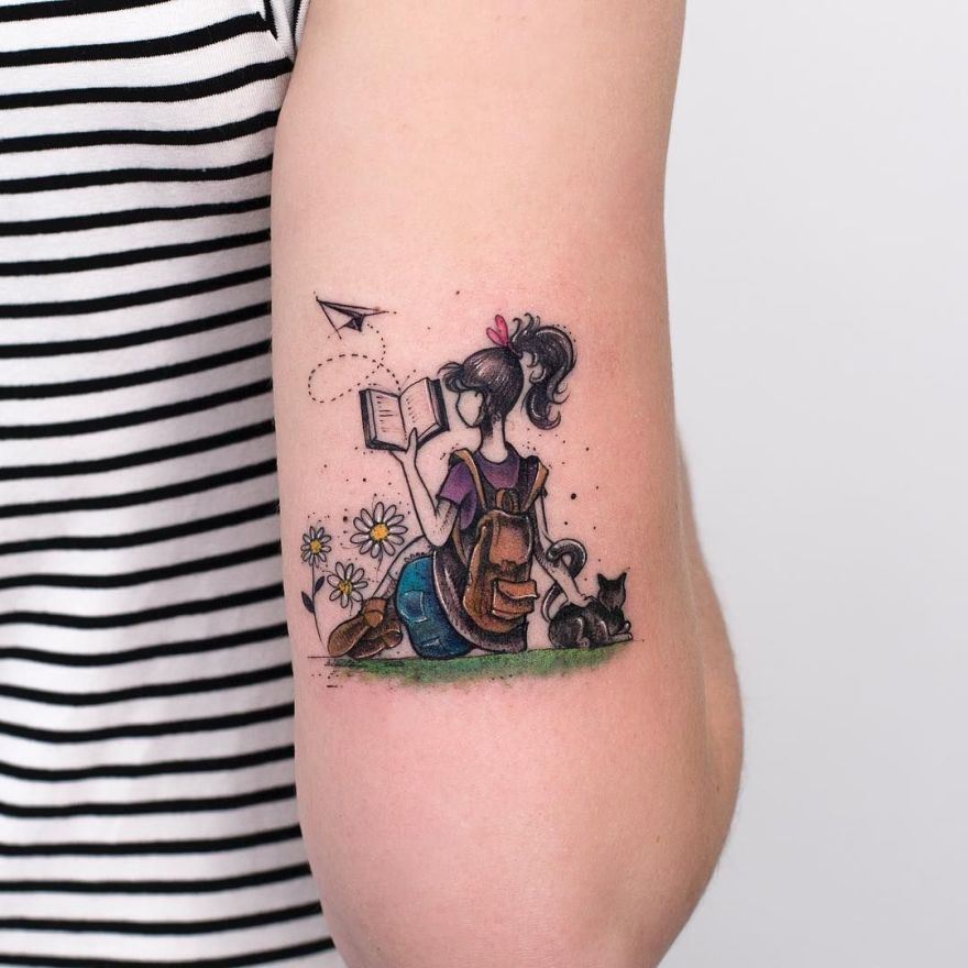 tattoos for book lovers - Book Tattoos