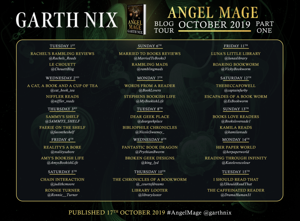 ANGEL MAGE BLOG TOUR PART 1 1024x757 - Book Review. Angel Mage by Garth Nix