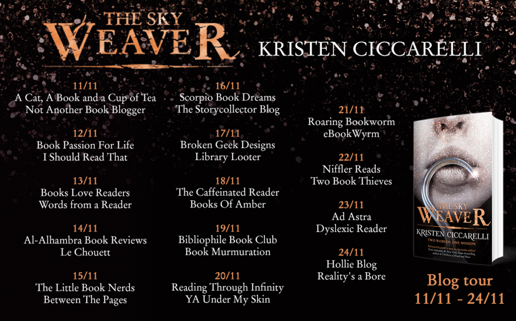 The Sky Weaver blog tour 1024x638 - Book review. The Sky Weaver by Kristen Ciccarelli