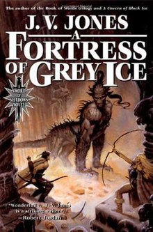 220px Book Cover of a Fortress of Grey Ice by J. V. Jones - Book Review- The Devil's Apprentice by Kenneth B Andersen