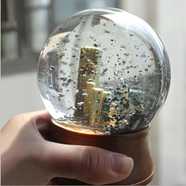Souvenirs Doomsday Crystal Ball Glass Water Snow Globe The End of World Apocalypse Movie Elements Ruins.jpg 640x640q70 - Book Review of Tipping Point by Terry Tyler