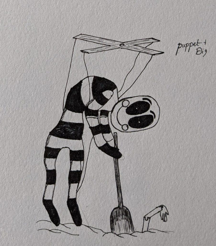 puppetdig 903x1024 - Inktober