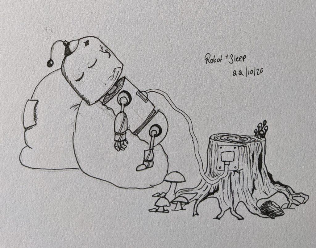 robotsleep 1024x803 - Inktober